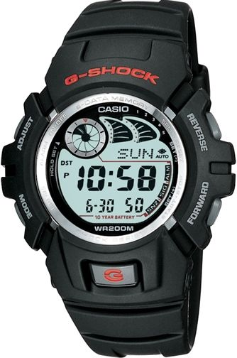 Casio G2900F-1V G-Shock Watch, Black; Resin Band; Digital Dial Code; E-Data Memory; 10 Year Battery Life; Shock Resistant; 200M Water Resistant; Auto EL Backlight with Afterglow; Memory capacity: Up to 40 sets of data with 7 characters per record - Actual number of records depends on number of characters per record; UPC 079767768843 (G2900F1V G2900F 1V G2900-F1V G-2900F-1V)