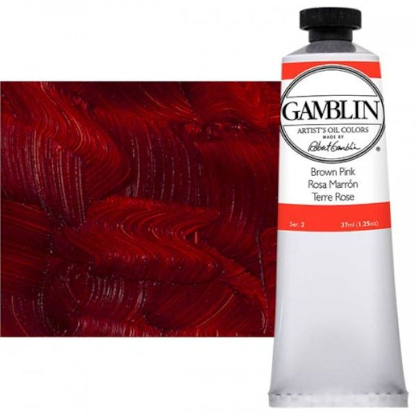 Gamblin G1050, Artists' Grade Oil Color 37ml Brown Pink; Professional quality, alkyd oil colors with luscious working properties; No adulterants are used so each color retains the unique characteristics of the pigments, including tinting strength, transparency, and texture; Fast Matte colors give painters a palette of oil colors that dry to a beautiful matte surface in 18 hours; Dimensions 1.00