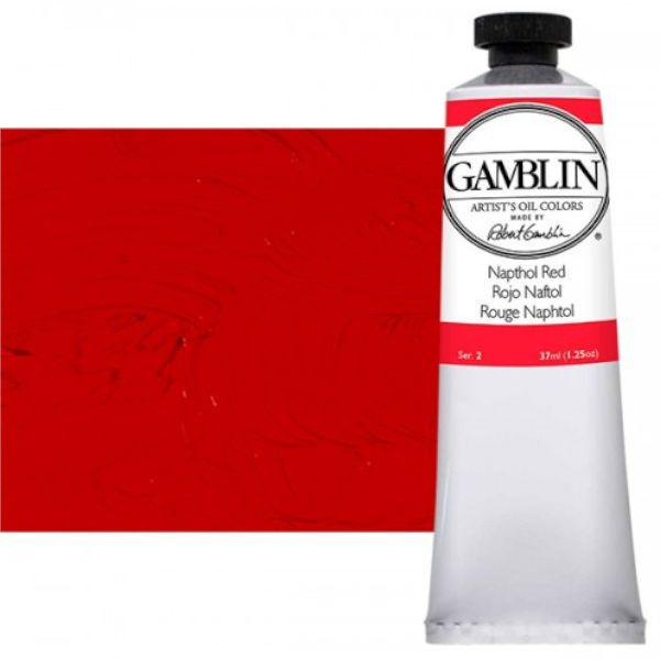 Gamblin G1470, Artists' Grade Oil Color 37ml Napthol Red; Professional quality, alkyd oil colors with luscious working properties; No adulterants are used so each color retains the unique characteristics of the pigments, including tinting strength, transparency, and texture; Fast Matte colors give painters a palette of oil colors that dry to a matte surface in 18 hours; Dimensions 1.00