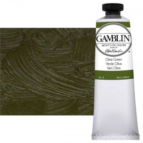 Gamblin G1490, Artists' Grade Oil Color 37ml Olive Green; Professional quality, alkyd oil colors with luscious working properties; No adulterants are used so each color retains the unique characteristics of the pigments, including tinting strength, transparency, and texture; Fast Matte colors give painters a palette of oil colors that dry to a matte surface in 18 hours; Dimensions 1.00