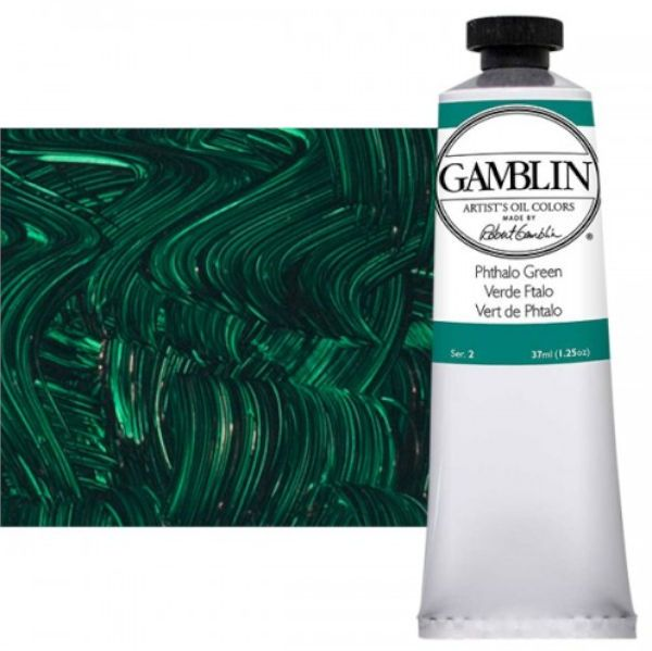 Gamblin G1541, Artists' Grade Oil Color 37ml Phthalo Emerald; Professional quality, alkyd oil colors with luscious working properties; No adulterants are used so each color retains the unique characteristics of the pigments, including tinting strength, transparency, and texture; Fast Matte colors give painters a palette of oil colors that dry to a matte surface in 18 hours; Dimensions 1.00