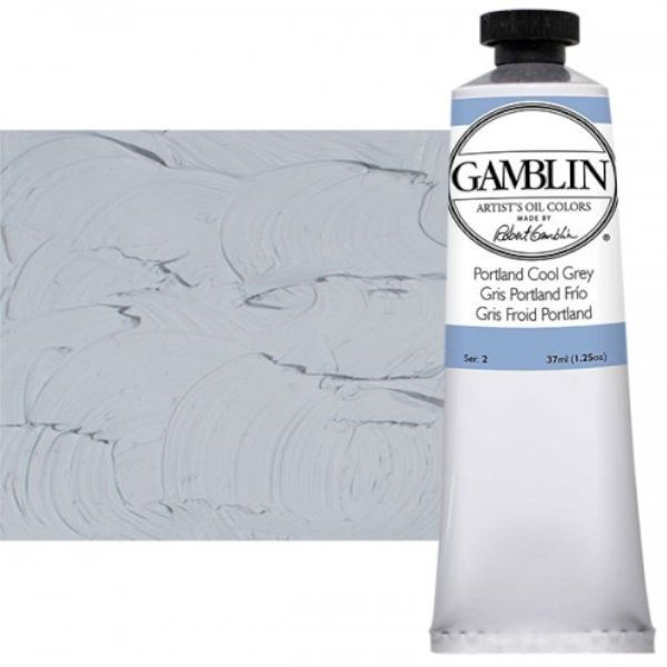 Gamblin G1554, Artists' Grade Oil Color 37ml Portland Cool Grey; Professional quality, alkyd oil colors with luscious working properties; No adulterants are used so each color retains the unique characteristics of the pigments, including tinting strength, transparency, and texture; Fast Matte colors give painters a palette of oil colors that dry to a matte surface in 18 hours; Dimensions 1.00
