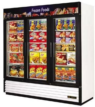 True GDM-72F-RC Remote Glass Door Freezer - Swing Door - 72 Cu.Ft.  (GDM- 2F RC GDM-72FRC GDM-72F RC GDM72F-RC GDM 72F-RC)