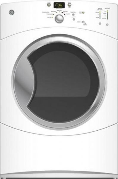 ge general electric gfdn110elww frontload electric dryer with 70 cu ft capacity super unit capacity low temperature options