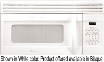Frigidaire Glmv169gq Over The Range Microwave Oven With 1 000 Cooking Watts 11 Levels Touch Controls And 300 Cfm Ventilation Fan Bisque On
