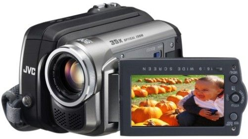 JVC GR-D870U High-Band Digital Video Camcorder, 2.7-Inch Wide Clear LCD Monitor, 1/6-inch 680k pixel CCD, 35x Optical Zoom/800x Digital Zoom, Digital Still Function, Dual Recording Capability, Auto LCD Backlight Control, 3-Dimension Noise Reduction (3D NR), Stick Control (GRD870U GR D870U GR-D870 GRD870 GRD-870U)