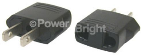 PowerBright GS-101 Flat/Round/Australian Input to American, flat pins Output Adapter (GS101 GS 101)
