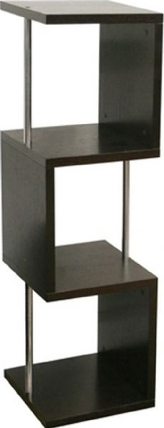 Merveilleux Wholesale Interiors HE5585 WENGE Cornelia Dark Brown Modern Display Shelf  Tall, Contemporary Display Shelf, Can Also Serve As An End Table, ...