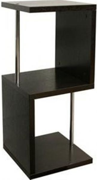 Wholesale Interiors HE5586 WENGE Cornelia Dark Brown Modern Display Shelf    Short, Contemporary Display Shelf, Can Also Serve As An End Table, ...