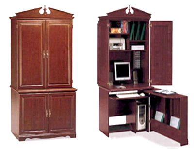 bush hm16685 swing out office armoire harvest cherry hm 16685 hm 16685 bush home office furniture