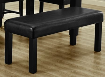 Monarch Specialties I 1622 Black Leather Look 45 Quot L Bench