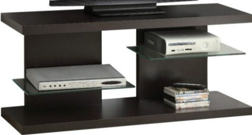 Monarch Specialties I 2555 Cappuccino Hollow Core 48 L Tv Console Constructed From Thick Accomodates Up To A Flat Panel