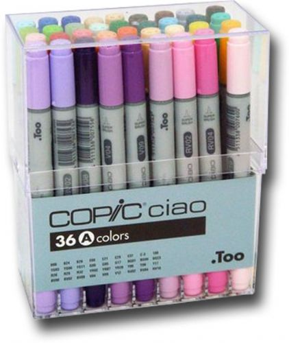 6 Markers Copic Sketch Markers Dual-tipped Sea /& Sky Refilliable