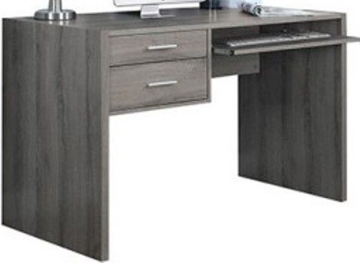 Monarch Specialties I 7090 Dark Taupe Reclaimed Look 48 L Computer Desk Crafted From Hollow Core Board Mdf Two Storage Drawers Pull Out Keyboard