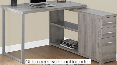 Monarch Specialty I 7134 Computer Desk Dark Taupe Left or Right