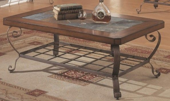 Monarch Specialties I 7979 Dark Oak Metal With Slate Top Console Table; Table  Top Finished With A Slate Inlay; Elegant Metal Base And Sides Perfect For  Your ...