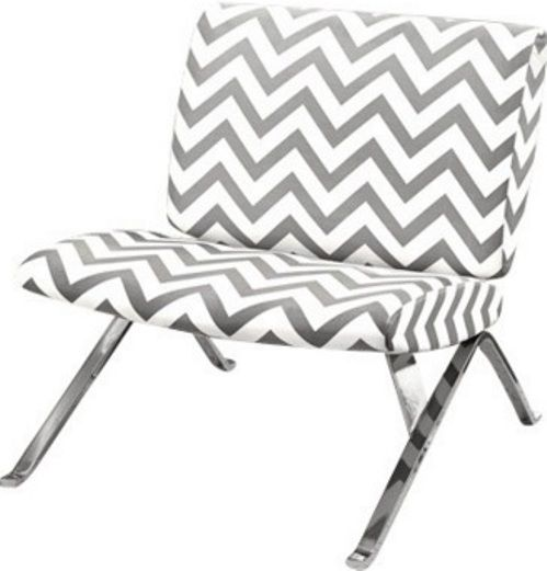 Super Monarch Specialties I 8135 Grey Chevron Fabric Chrome Ocoug Best Dining Table And Chair Ideas Images Ocougorg