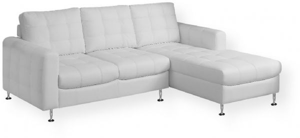 Super Monarch Specialties I 8380Wh White Bonded Leather Sofa Evergreenethics Interior Chair Design Evergreenethicsorg