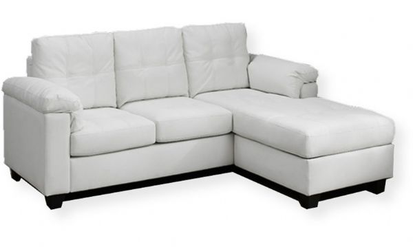 Surprising Monarch Specialties I 8390Wh White Bonded Leather Sofa Evergreenethics Interior Chair Design Evergreenethicsorg