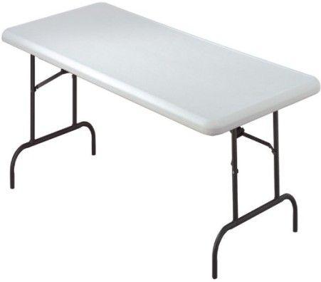 Iceberg Enterprises 65323 IndestrucTable TOO Folding Table, 600 Series  Utility Tables, Platinum, Size