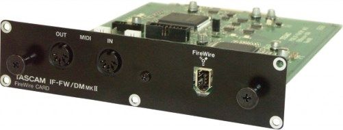 Tascam IF-FW/DMMKII 32-Channel/96kHz FireWire Audio Interface Card For use with DM-3200 and DM-4800 Digital Mixing Consoles; 32-in and 32-out interface for computer workstation software; Up to 96kHz/24-bit audio resolution; ASIO and CoreAudio drivers for Windows and Mac OS X; Installs in DM-3200 and DM-4800 digital consoles; UPC 043774021338 (IFFWDMMKII IF-FW-DMMKII IF-FW DMMKII IF-FW/DM MKII)