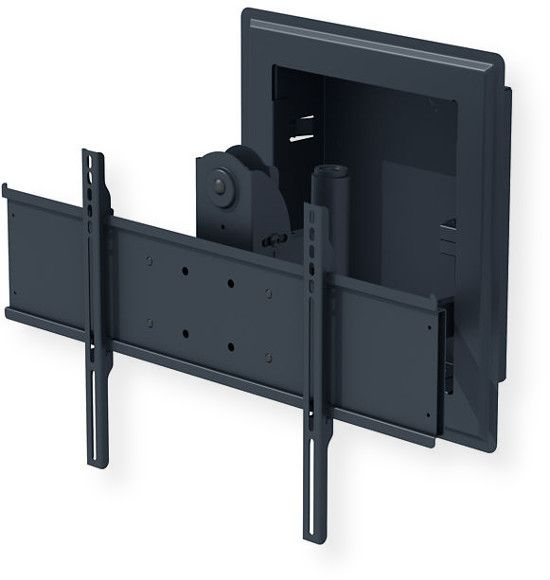 Peerless IM760PU In-Wall Mount; Black; IM760PU models include universal adaptor plate to fit displays with mouting hole patterns up to 730 x 433mm (28.75