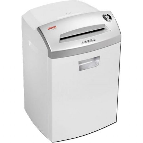 Intimus 277164 Model 32, Professional Cross Cut Paper Shredder, Low Noise Level with Removable Catchbasket, Accepts Paper Clips, Staples, Credit Cards, CDs/DVDs, Auto On/Off and Reverse, Up To 12 Sheets Shredding Capacity; Shreds up to 141 sheets per minute; 9.5
