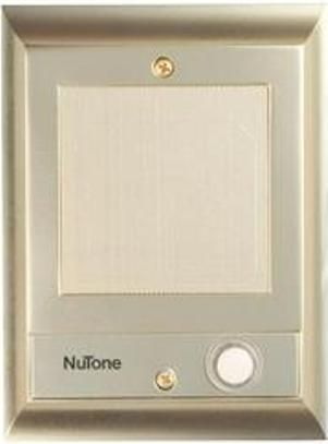 Nutone IS69PB Recessed Door Station, Cast Metal Door Speaker With Lighted  Chime Pushbutton Makes It Easy To Find In The Dark, Mounts Beside Door, ...