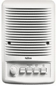 Nutone ISA449WH Exterior Molded Speaker, 5 Inch, Control radio and CD player from speaker; on/off, select radio memory channels/CD tracks, One button talk/listen, Control music and intercom volume using built-in control, Private mode prevents unwanted monitoring, Answer door from any remote- station (ISA-449WH ISA 449WH)