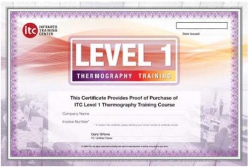 FLIR ITC LEVEL I ITC Level 1 Certification Training Per Attendee; Introduction to Thermal Imaging and Measurement Systems for Predictive Maintenance Applications; Collect Quality Data, Accurate Temperature Readings, and Account for Measurement Effects Such as Distance and Emissivity Using Infrared Cameras (ITCLEVELI ITC-LEVEL-I ITC-LEVELI ITCLEVEL-I)