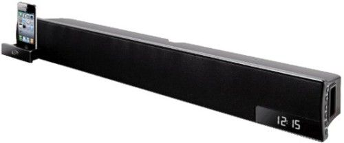 Ilive Itp180b Sound Bar 32 For Ipod And Iphone Plays Charges Docked 3 1 Channel Stereo Srs Trusurround Xt Wow Fm Radio