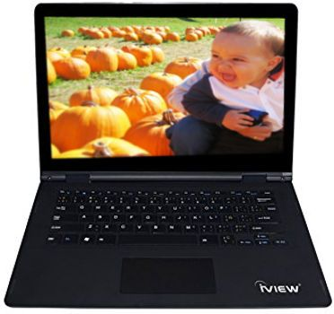iView ULTIMA Laptop and Tablet Intel Atom, Black Color; Windows 10; Intel Atom Processor; Cherry Trail Z8300, 1.6 GHz up to 1.8 GHz; 13.3