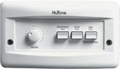 Nutone ICA331WHW Exterior Remote Control, Built-in volume control, Talk from any remote to all other remote/speakers, Answer door from any remote/speaker, From remote control, turn AM/FM radio on/off, change radio memory channel, Use up to 13 remote stations and 3 door speakers, 5'' woofer for clear crisp sound quality (ICA 331WHW ICA-331WHW)