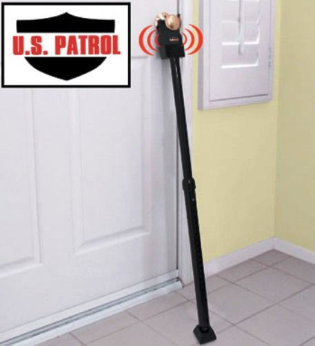 U.S. Patrol JB5322 Door Alarm Security Bar, Adjusts from 29-43 in. to fit virtually any door, For Added Security & Protection, Powerful Siren or Barking Dog Sounds, Secures Your Home from Intruders, Alarm Sounds When Door Knob is Touched, Heavy Gauge Steel Construction, No Installation Required, Protects Any Room Any Time:Home, Dorm, Office, Hotel & More (JB-5322 JB 5322)