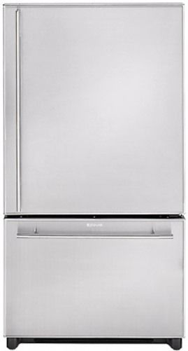 Jenn Air JCB2059GES Counter Depth 20 Cu.Ft. Bottom Freezer, Black With  Stainless Steel Door Panels, Automatic Ice Maker, Glide Out Freezer Drawer  With ...