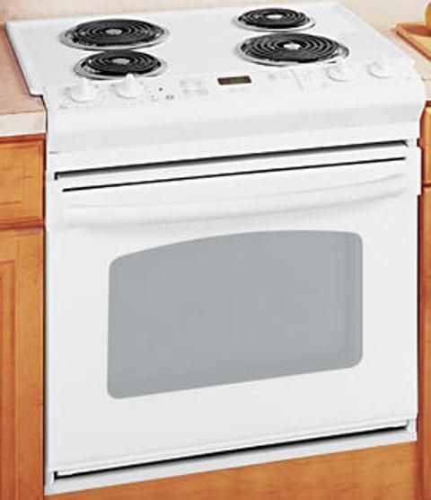 ge general electric jds28dnww drop in electric range with. Black Bedroom Furniture Sets. Home Design Ideas