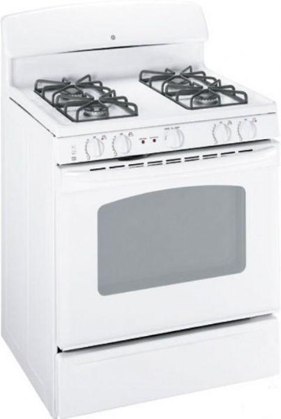 ge general electric jgbp27demww gas range with 4 sealed burners, 30