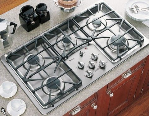 GE General Electric JGP975SEKSS Gas Cooktop with 5 Sealed Burners, 36