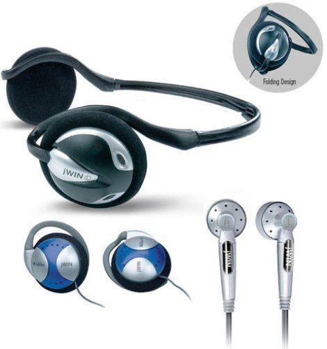 jWIN JH-P910 Portable Stereo Backphone / Ear-clip Headphone