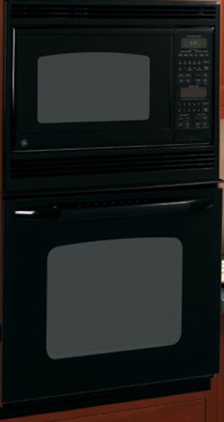 Ge General Electric Jkp90dpbb Combination Wall Oven 27 Size 1 6 Cu Ft Upper 3 8 Lower Capacity Extra Large Unit