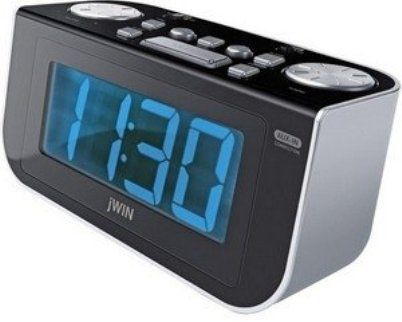 jwin jl350 digital dual alarm clock integrated am fm radio wake to radio or buzzer fall. Black Bedroom Furniture Sets. Home Design Ideas