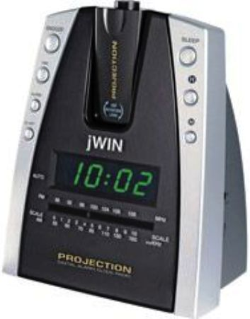 jwin jl707blk model jl 707 projection and led alarm clock radio black 180 degree projection. Black Bedroom Furniture Sets. Home Design Ideas