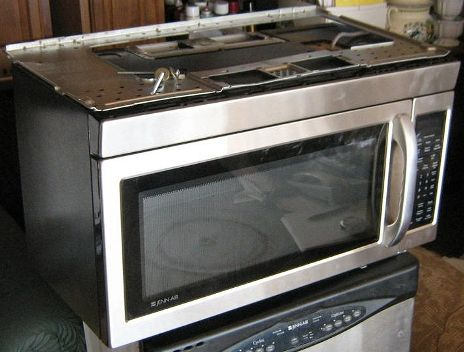 Jenn Air Jmv8196aas Over The Range Microwave Oven 1 9 Cu Ft Capacity 1000 Watts Handles Large