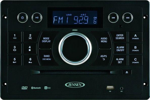 Jensen JWM6A AM/FM/DVD/CD/USB Bluetooth Stereo With