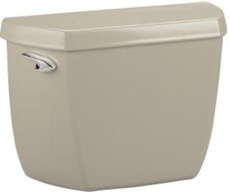 kohler k4632g9 model k4632 wellworth toilet tank with class five flushing technology sandbar 16 gallons per flush canister flush valve provides