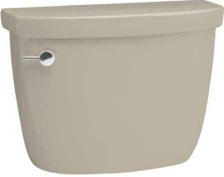 kohler k4634g9 model k4634 cimarron toilet tank with lefthand trip lever sandbar combines with k4286 cimarron comfort height elongated bowl to create