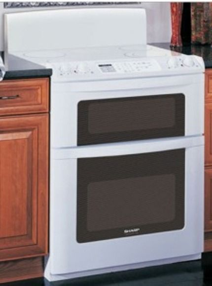 Sharp Kb3425lw Freestanding Electric Range With Microwave Drawer