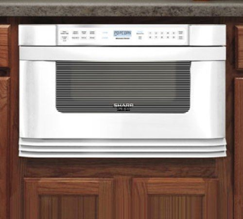 Sharp Kb 6021mw Insight Pro 24 Inch Microwave Drawer Oven White 1 0 Cu Ft Capacity Holds 9 X 13 Inches Dish 1000 Watts Front Mounted Touch Controls