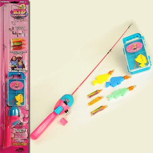 Kid Casters Kcdtg2352 Jimmy Houston Girl S Fishing Combo 29 5 Youth Size Pink Fishing Rod 3 1 1 Gear Ratio Reel 8lb Line 3 Sponge Fish Training Lures That Instantly Transform Into Large Colorful Sponge