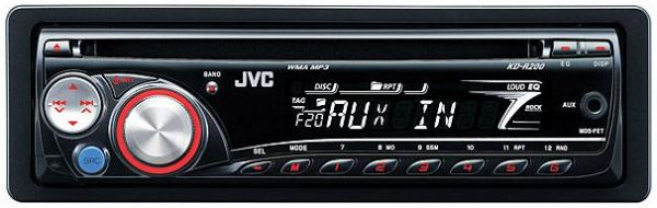 Jvc Kd R200 Am Fm Mp3 Cd Car Stereo Receiver With Front Aux
